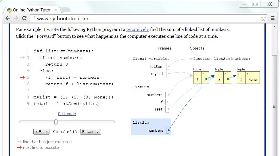 Running Online Python Tutor in a Local Linux VM – Dmitry Leskov